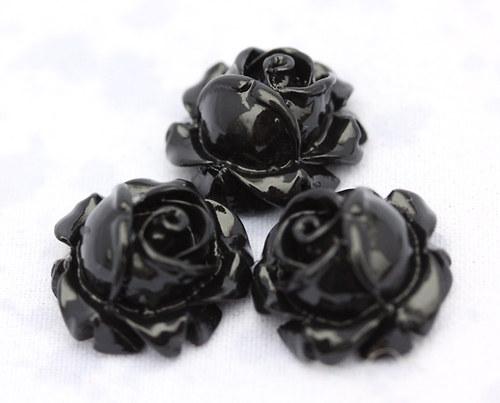 Černé růže 3 ks