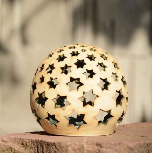 Světlo (koule) Hvězdičková 21cm - Natura (zelená)2