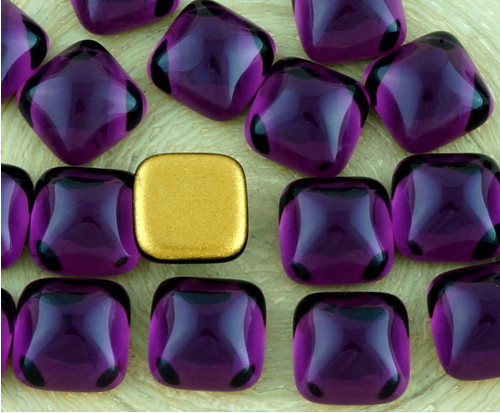 6ks Crystal Amethyst Purple Náměstí české Sklo Kab