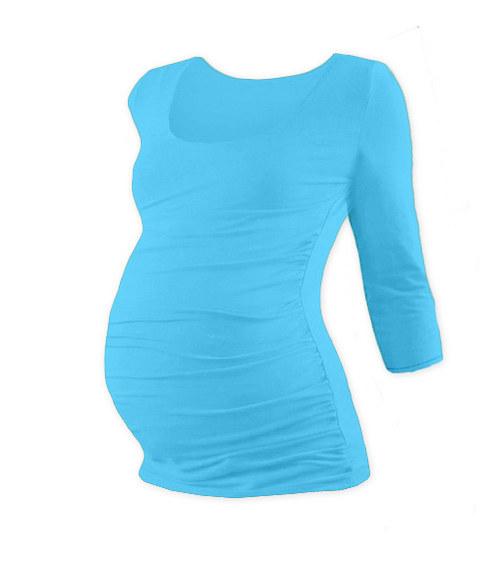 Těhotenské tričko 3/4 rukáv tyrkysové
