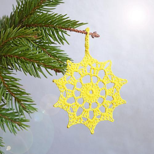 Vánoční hvězdička 7 - žlutá