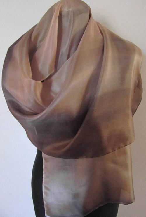 Hedvábná malovaná šála
