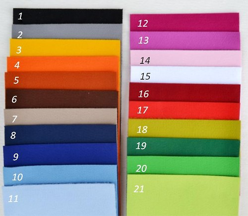Dekorační plsť hrášková (barva č. 21) - 100% PES