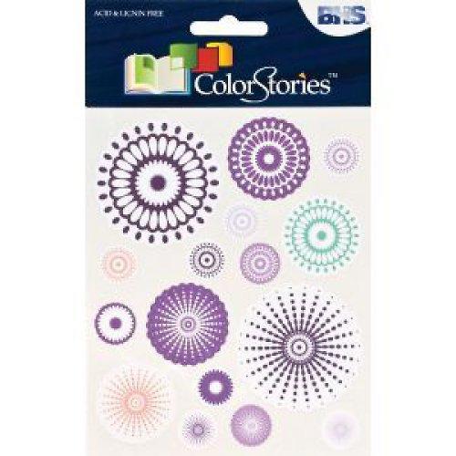 Kruhové samolepky - fialové