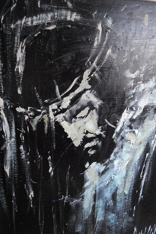 Ježíš Kristus, Oleje na desce / or. Pavel Dlabal