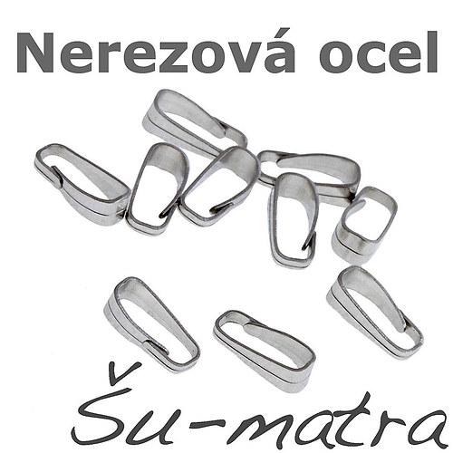 Ocelové šlupničky, 2,5x6 mm (10ks)