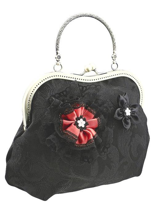 Dámská černá společenská kabelka 1040A