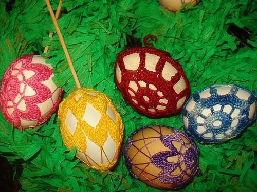 háčkované vajíčko