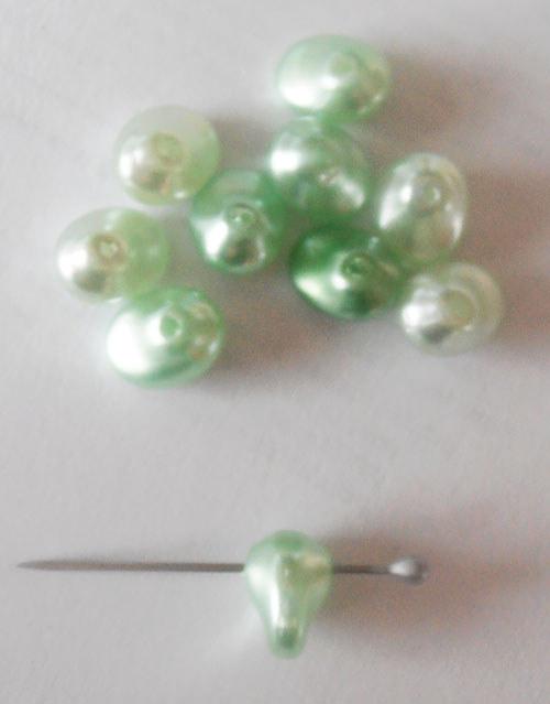 České voskové perle / 10 ks / 8*6 mm