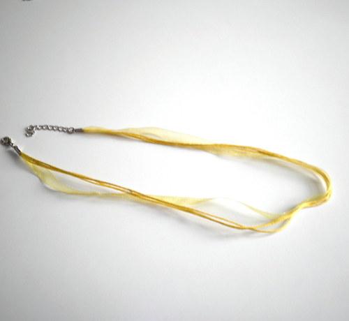 Náhrdelníková stužka z organzy žlutá