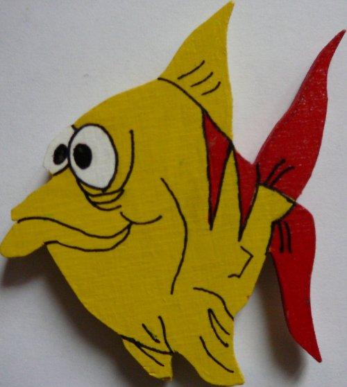 magnet  žlutá ryba