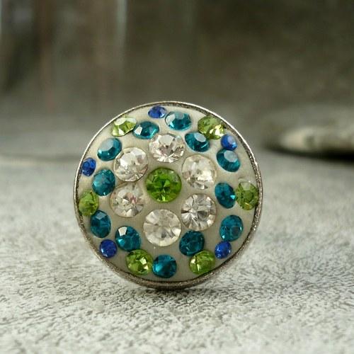 Pomněnkové třpytky - prstýnek