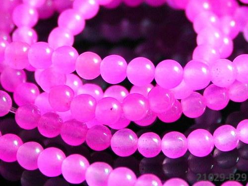 21029-B29 JADEIT neon růžový 4mm, bal.10ks!