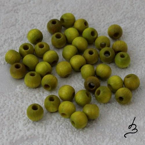 Dřevěné SV zelené pr. 5 mm - bal. 40 ks