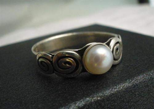 zásnubný prsteň s perlou - Ag 925