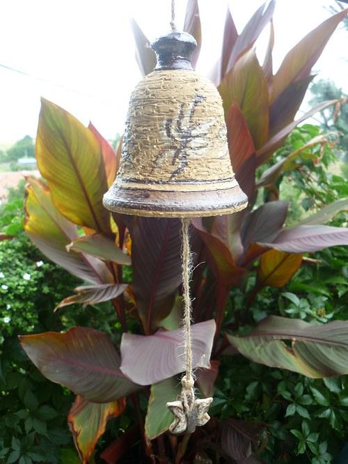 Keramický zvon - motýli-12cm