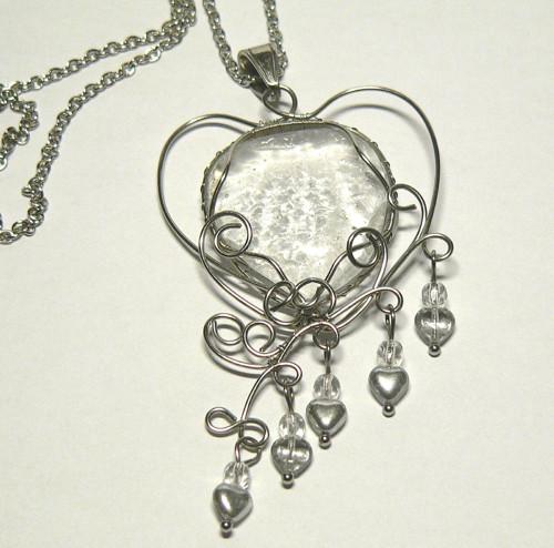 srdce na dlani-náhrdelník