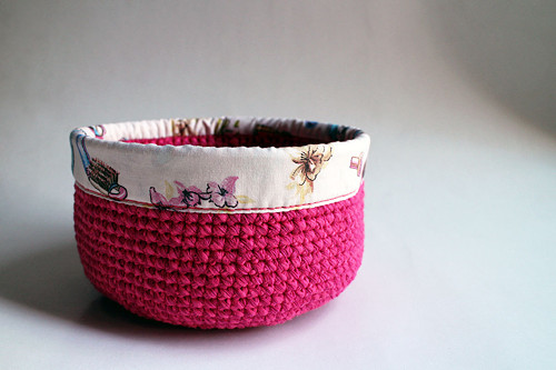 Košík - Cyklámenová Růžová | obšitý | kosmetika