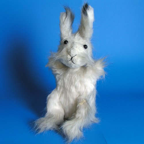 Stříbrný králík - dva v jednom - autorská hračka