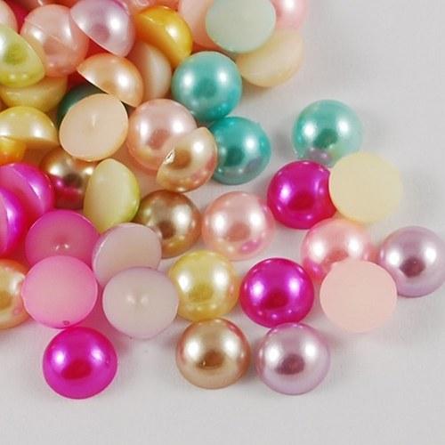 Akrylové perlové kabošony 8mm 10ks