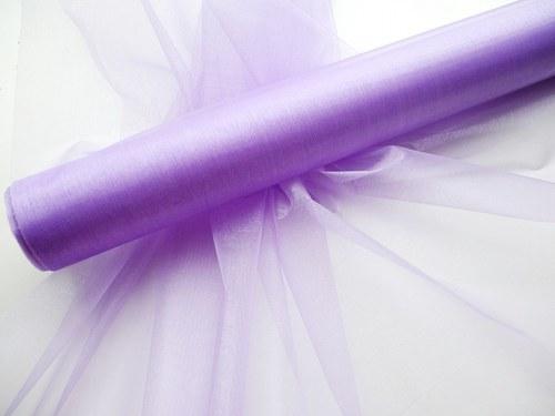 Organza fialová světlá neobroubená (barva č.13)