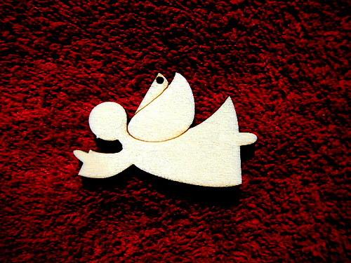 2D výřez andílek letí-v.3,5x5,5cm