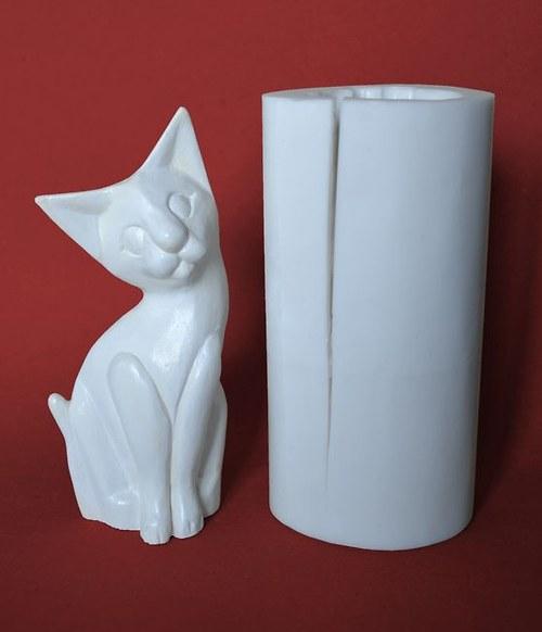 Forma na svíčky Kočka - výška 15cm