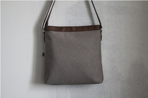 BEA BAG carpet - grey, dark brown