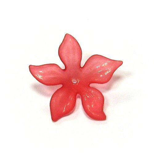 Květ velký červený matný