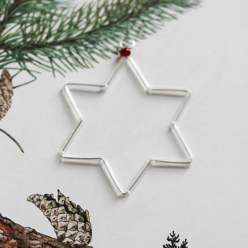 Vánoční hvězdička stříbrná