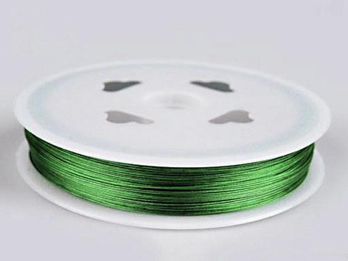 Lanko bižuterní/ 0,38mm/ zelená /5m