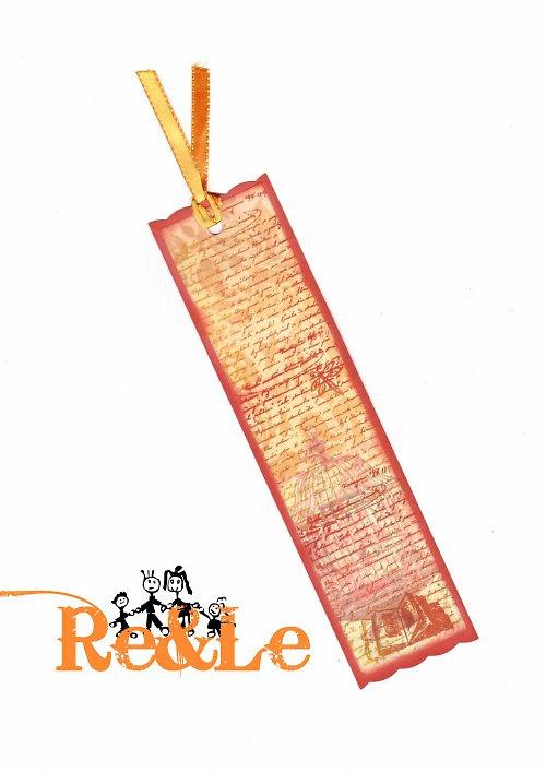 Záložka - písmo s knihou