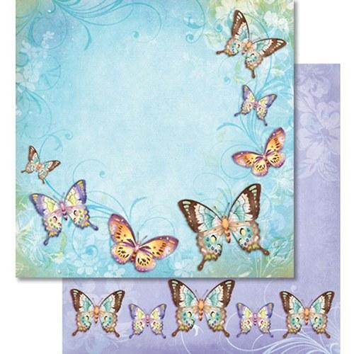 Třpytivý papír - Motýli na okrajích