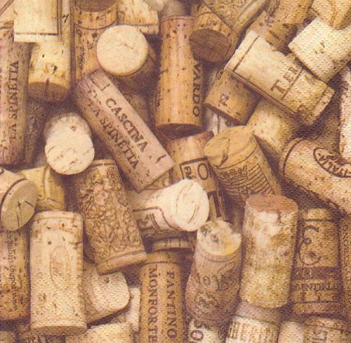 Ubrousek - korky z vína