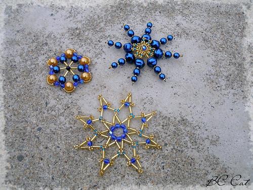 Vánoční ozdoby - modré