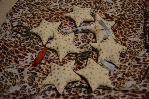 Hvězdička bílá s hvězdičkami - SKLADEM!