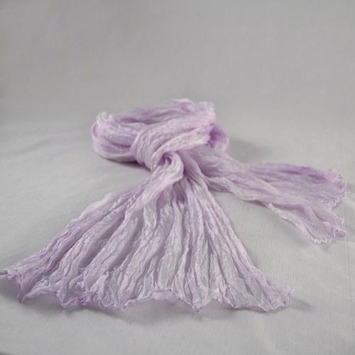 Vrapovaná fialová šála