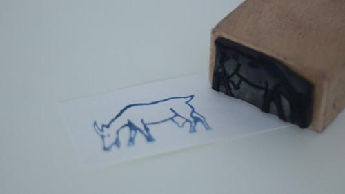 Dětské razítko s obrázkem, tiskátko koza