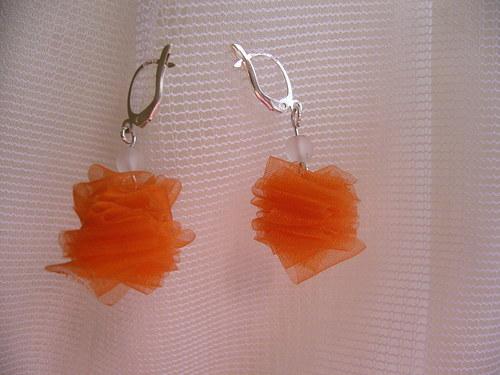 náušky se oranžovou stužkou