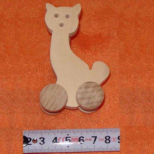 kočka - dřevěná hračka