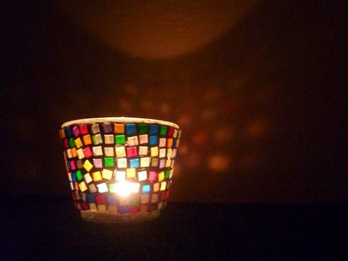 Mozaikový svícen