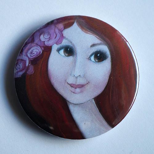 Mám růži ve vlasech- magnet