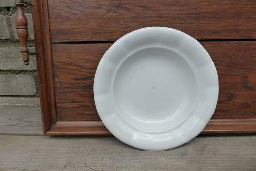 Starý selský silnostěnný talíř, hluboký