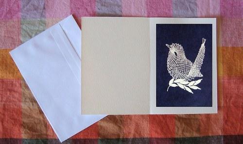 Paličkované přání - Ptáček 4