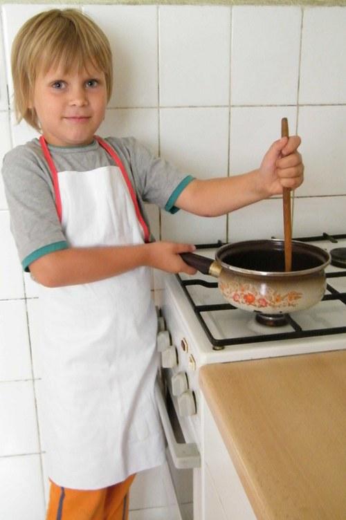 Dětská zástěrka 1-4 let - set na výrobu