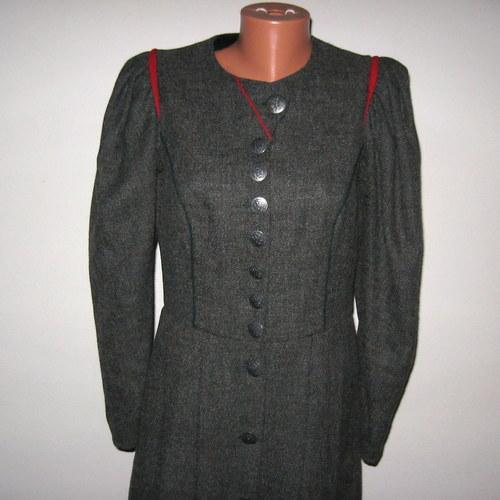Selské šaty šedé