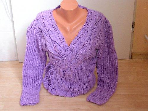 Dámský pletený svetřík, vel.46