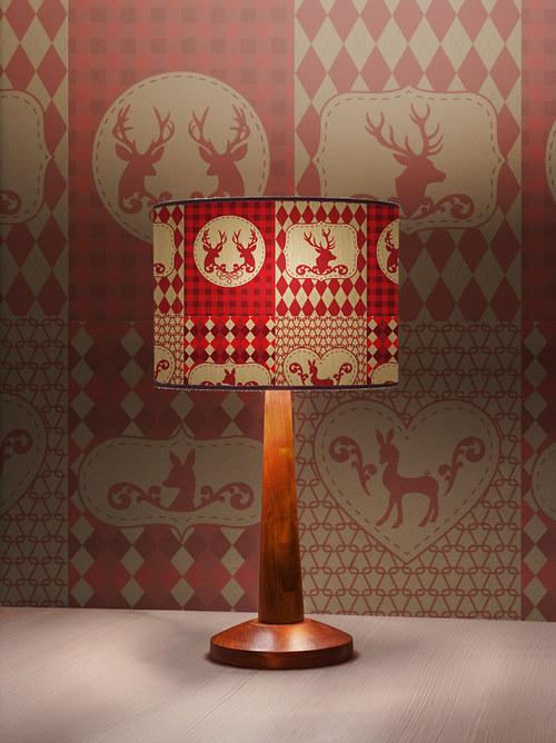 Stínítko na lampu Vánoce - stolní/stropní