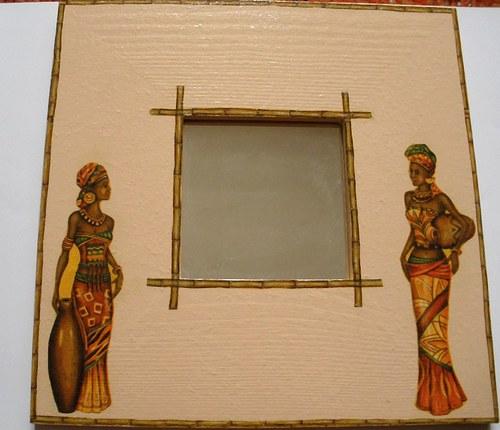 Zrcadlo v etno stylu