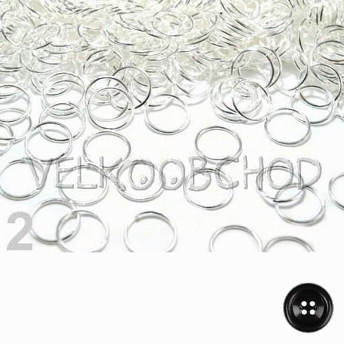 Spojovací kroužky pr.8 mm (50 ks) - stříbro